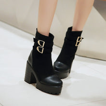 Load image into Gallery viewer, Buckle Ankle Boots High Heels Women Shoes Fall|Winter 8276
