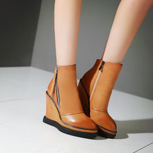 Load image into Gallery viewer, Zipper Wedges Boots High Heels Women Shoes Fall|Winter 8904