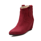 Flock Wedges Boots Women Shoes New Arrival