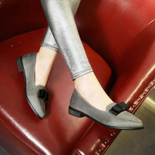Load image into Gallery viewer, Pointed Toe Women Flat Shoes with Bow New 2016
