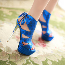 Load image into Gallery viewer, Sexy-Cutout-High-Heels-Sandals-Women-Pumps-Platform-Shoes 2251