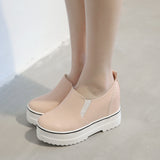Women Wedges Platform Shoes High Heels Pure Color