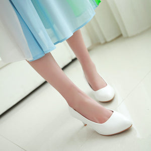 Simple Pumps Platform High Heels Women Shoes 4245