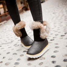 Load image into Gallery viewer, Rabbit Fur Women Snow Boots Winter Platform Shoes Woman 2016 3482