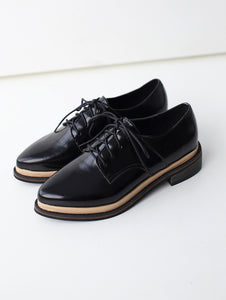 Patent Leather Lace Up Pumps Platform High Heels Women Shoes 6020