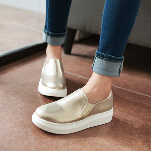 Women Platform Shoes Wedges Candy Colors Loafers