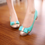 Bow Women Pumps High Heels Shoes 1135