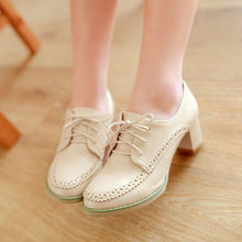 Load image into Gallery viewer, Women High Heels Shoes Lace Up Platform Pumps 7916