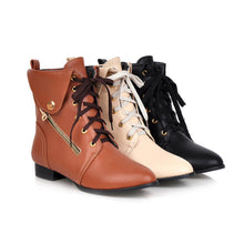 Load image into Gallery viewer, Lace Up Pointed Toe Ankle Boots Women Shoes Fall|Winter 8017