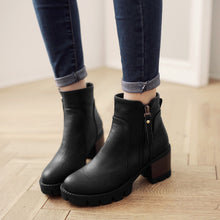Load image into Gallery viewer, Zipper Ankle Boots High Heels Women Shoes Fall|Winter 5937