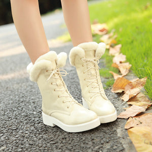 Fur Snow Boots Ankle Boots Women Shoes Fall|Winter 5783