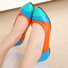 Load image into Gallery viewer, Pointed Toe Women Flats Patchwork Ballet Shoes
