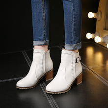 Load image into Gallery viewer, Buckle Ankle Boots High Heels Women Shoes Fall|Winter 8576