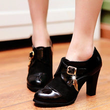 Load image into Gallery viewer, Patent Leather Women Pumps Buckle High Heels Shoes Woman