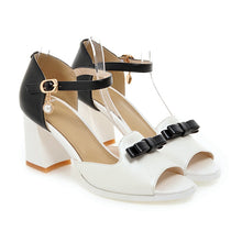 Load image into Gallery viewer, Bow Sandals Ankle Straps Women Pumps Platform High-heeled Shoes Woman