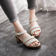 Load image into Gallery viewer, Summer Ankle Straps Sandals Pumps Platform Thick-heeled Shoes Woman