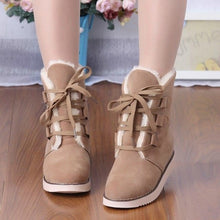 Load image into Gallery viewer, Lace Up Women Snow Boots Fur Artificial Suede Winter Platform Shoes Woman 2016 3495