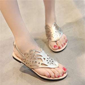 Covered T Strap Flip Flops Flat Sandals 2171