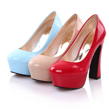 Load image into Gallery viewer, Women Platform Pumps Patent Leather High Heels Shoes Woman 3407
