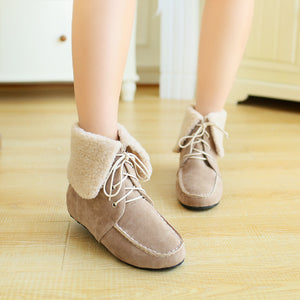 Fashion Women Ankle Boots for Autumn and Winter New Arrival Fur Warm Snow Boots 8001