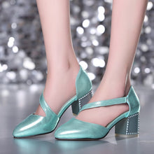 Load image into Gallery viewer, Pointed Toe Sandals Ankle Wrap Women Pumps High Heels Shoes Woman