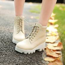 Load image into Gallery viewer, Lace Up Ankle Boots High Heels Women Shoes Fall|Winter 6372