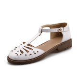 T Straps Sandals Women Pumps Platform High-heeled Shoes Woman