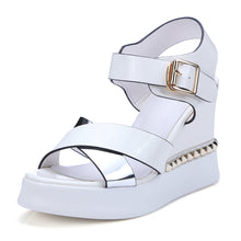 Load image into Gallery viewer, Color Blocking Wedges Sandals Women Platform High-heeled Shoes Woman