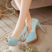 Load image into Gallery viewer, Summer Fish Head Spike Sandals Pumps Platform High-heeled Shoes Woman