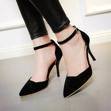 Load image into Gallery viewer, Pointed Toe Sandals Women Pumps Spike Stiletto High-heeled Shoes Woman