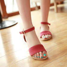 Load image into Gallery viewer, Fashion Flats Sandals Ankle Straps Women Shoes 7651
