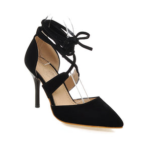 Women Sandals Straps Pointed Toe Pumps High-heeled Shoes