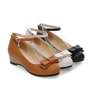 Ankle Straps Women Wedges Platform Shoes 9809