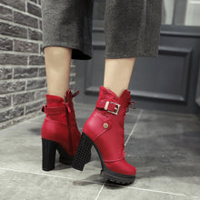 Load image into Gallery viewer, Lace Up Buckle Ankle Boots High Heels Shoes Fall|Winter 5044