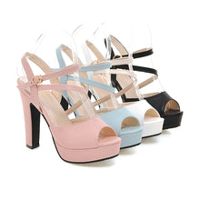 Load image into Gallery viewer, Women Sandals Pumps Platform Peep Toes High-heeled Shoes