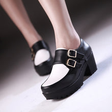 Load image into Gallery viewer, Buckle Women Pumps Platform Shoes High Heels  2831