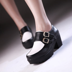 Buckle Women Pumps Platform Shoes High Heels  2831