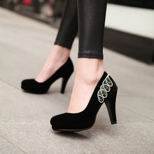 Load image into Gallery viewer, Rhinestone Wedding Shoes Women Pumps High Heels Dress Shoes 9623