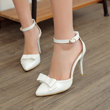 Load image into Gallery viewer, Summer Stiletto Sandals Pumps Bow High-heeled Shoes Woman