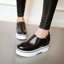 Load image into Gallery viewer, Women Wedges Studded Summer Pumps High Heel Loafers Platform Shoes