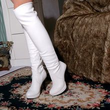 Load image into Gallery viewer, Over the Knee Boots Platform High Heels PU Leather Spike Shoes Woman 3319 3319