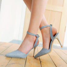 Load image into Gallery viewer, Pointed Toe Ankle Strap High Heels Sandals Stiletto Heel  5265