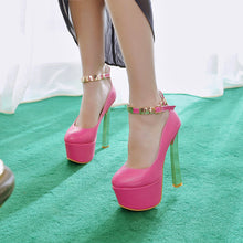 Load image into Gallery viewer, Sequined Women Pumps Platform Ankle Straps High Heels Party Shoes Woman