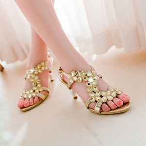 Fashion-Rhinestone-High-Heels-Sandals-Women-Pumps-Spike-Shoes 3894