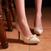 Load image into Gallery viewer, Knot Women Pumps Platform High Heels Pointed Toe Stiletto Shoes Woman