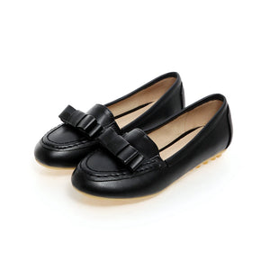 Bow Women Flats Big Size Shoes