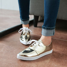 Load image into Gallery viewer, Women Flats Lace Up Casual Loafers Shoes