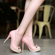 Load image into Gallery viewer, Knot Women Pumps Platform High Heels Spike Shoes Woman