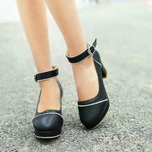 Load image into Gallery viewer, Women Platform Pumps Ankle Straps High Heels Jelly Shoes Woman 3418