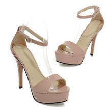 Load image into Gallery viewer, Ankle Straps Platform Sandals Stiletto Heel Women Pumps High Heels Shoes Woman